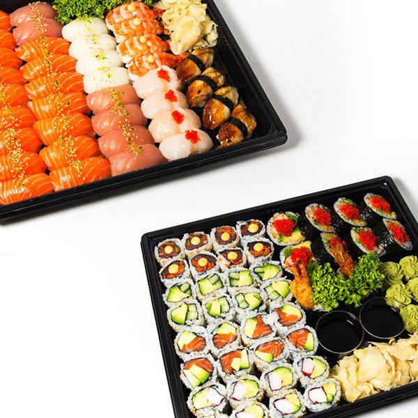 19. Mega stor familie sushi (80 biter)